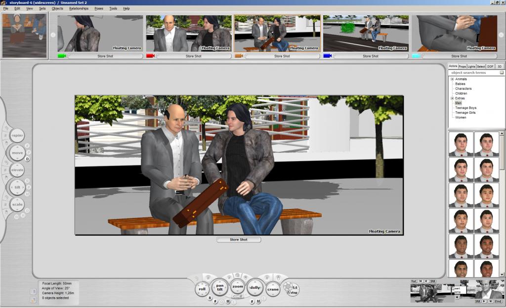 Создание раскадровки в FrameForge Previz Studio 3
